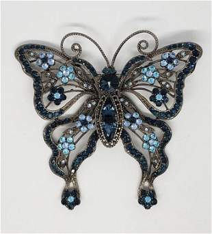 VINTAGE SAMO 846 BUTTERFLY BROOCH WITH