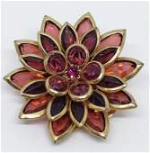 GORGEOUS AVON GOLD TONED LAYERED FLOWER