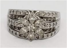 GORGEOUS STERLING RING WITH CZ STONE ACCENTS!