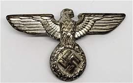 WWII German NSDAP Uniform Cap Eagle Pin
