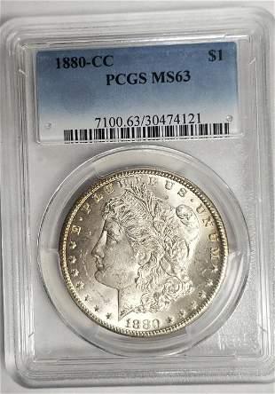 1880-CC MORGAN DOLLAR PCGS MS63
