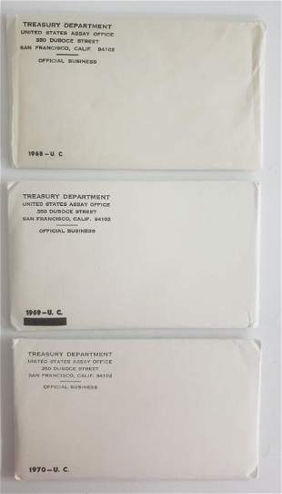 1968-1969-1970  U.S. MINT SET P&D