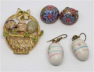VINTAGE EASTER JEWELRY LOT: (1)GOLD TONED
