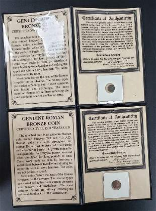 2 Genuine Roman Bronze Coins - Over 1500 Years Old