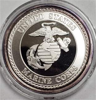 US Marine Corps 1ozt .999 Fine Silver