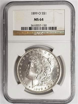 1899-O Morgan Silver Dollar NGC MS64