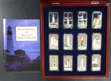 Lighthouse of America Silver Ingots 12- .999 Fine