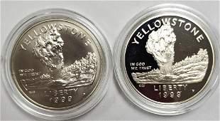 1999 Yellowstone Nat. Park Commem. Silver Dollars