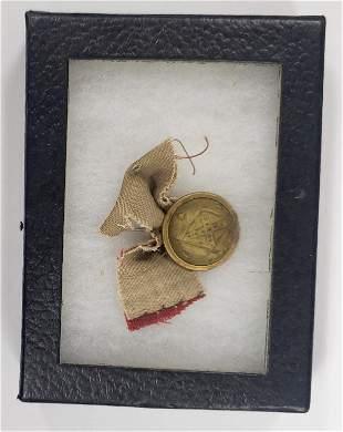 Civil War Confederate Flag Button UCV 1861-1863