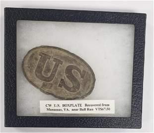 Civil War Union Belt Buckle - Battlefield Dug