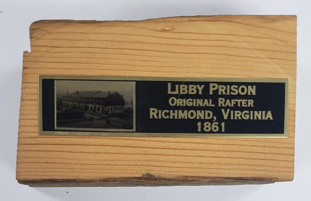 Civil War Libby Prision Original Rafter Piece