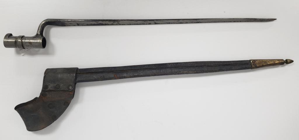 Civil War Socket Bayonet W/Scabbard