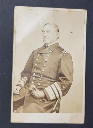 Civil War Admiral David Farragut CDV Willard's Gal