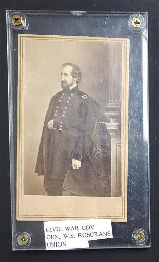 Civil War CDV General W.S. Rosecrans