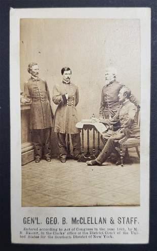 Civil War General George B McCellan & Staff Rare C