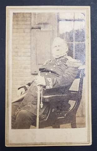 Civil War Union General Winfield Scott CDV W/Sword