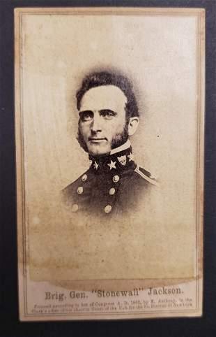 "Civil War General ""Stonewall"" Jackson CDV"