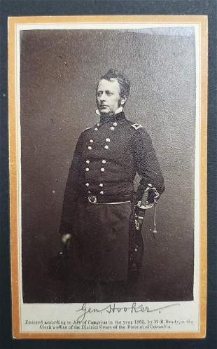 Civil War General Hooker CDV