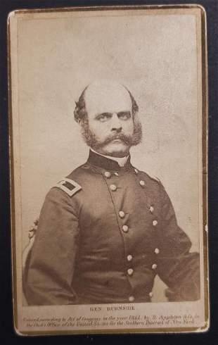 Civil War General Burnside CDV