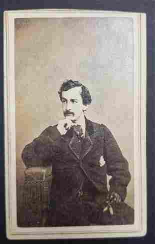 Civil War Era John Wilkes Booth CDV