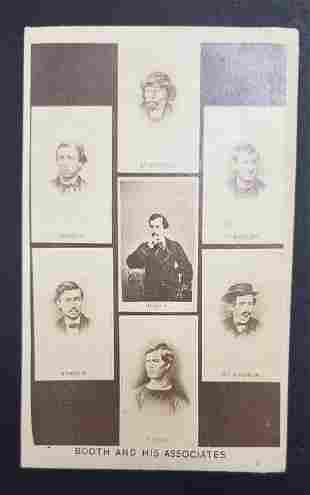 Civil War Era John Wilkes Booth & Associates CDV
