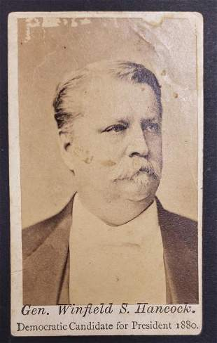 Civil War General Winfiled S Hancock Dem. Candidat