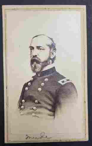 Civil War General GG Meade CDV - In Uniform