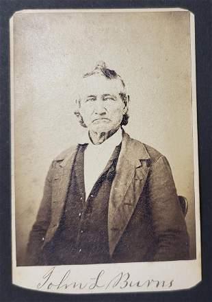 Civil War Hero John L Burns CDV Photo Card