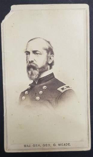Civil War General George G Meade CDV Photo Card