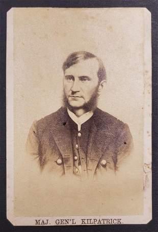 Civil War Major General Kilpatrick CDV Photo Card