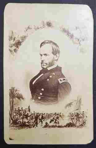 Civil War Union General Sherman CDV Photo Card