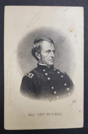 Civil War General Hooker CDV Photo Card