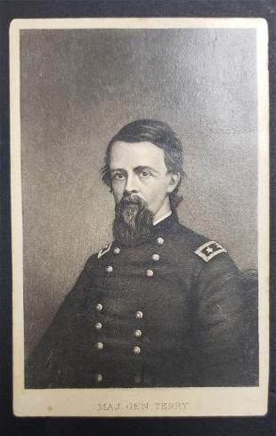 Civil War Union General Major General Terry CDV