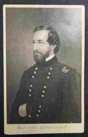 Civil War Union General Rosecrans CDV Photo Card