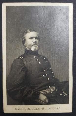 Civil War Union General George H Thomas CDV Card
