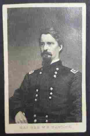 Civil War Union General W.S. Hancock CDV Photo Car