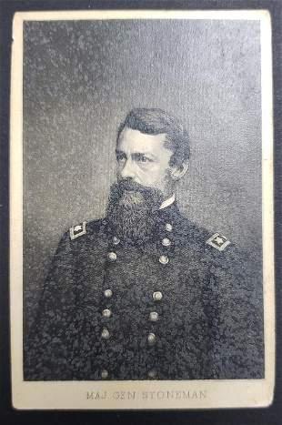 Civil War Union Major General Stoneman CDV Photo C