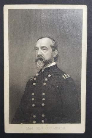 Civil War Union Major General GG Meade CDV Phot Ca