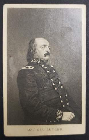 Civil War Union Major General Butler CDV Photo Car