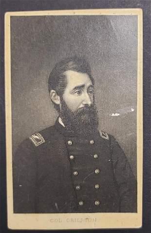 Civil War Colonel Benjamin Henry Grierson CDV Card