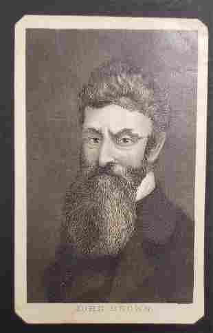 Civil War Slavery Abolishinist John Brown CDV Card