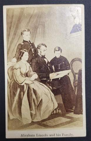 Civil War President Abraham Lincoln And His Family