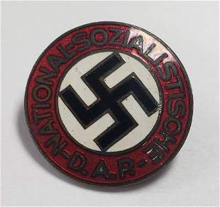 WWII German Party Enameled Lapel Pin