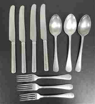 Vintage US Navy Silverware Forks, Spoons, Knives