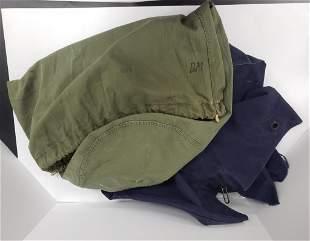 Vintage US Navy-- Navy Blue Duffle Bag & US Army B