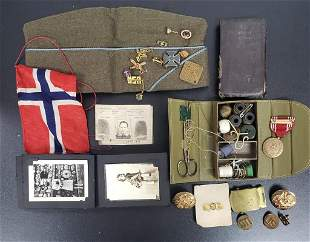 WWII US Army PFC Soldiers Personal Items, Papers,
