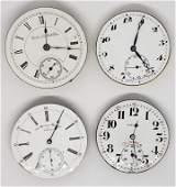 4 POCKET WATCH MOVEMENTS