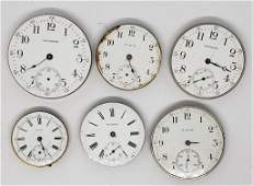 6 POCKET WATCH MOVEMENTS
