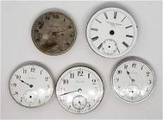 5 POCKET WATCH MOVEMENTS