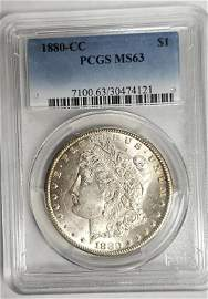 1880-CC MORGAN DOLLAR PCGS MS63